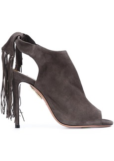 Aquazzura 'Fringe Tie' sandals - Grey