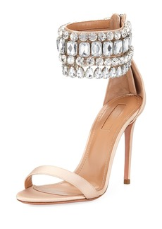 Aquazzura Gem Palace Satin Sandal