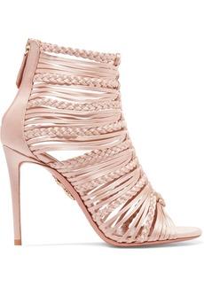 Aquazzura Goddess Braided Satin Sandals