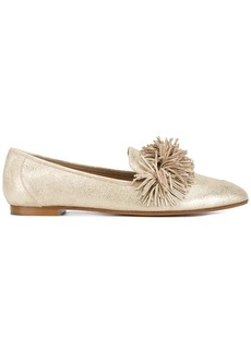 Aquazzura Gold Wild Leather loafers - Metallic