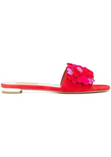 Aquazzura 'Happy hearts' slide sandals - Red