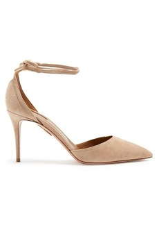 Aquazzura Heart Breaker suede pumps