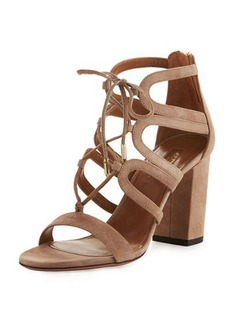 Aquazzura Holli Suede Lace-Up 85mm Sandal