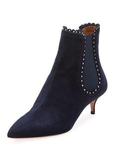 Aquazzura Jicky Studded Low-Heel Chelsea Boot