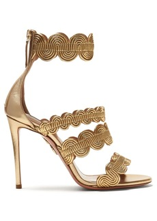 Aquazzura Jodhpur 105 leather sandals