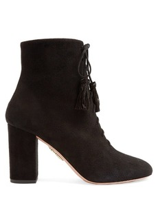Aquazzura Jourdan lace-up suede boots