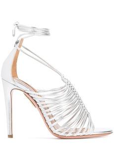 Aquazzura lace-up sandals - Metallic