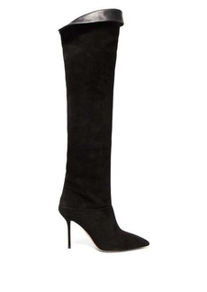 Aquazzura Lancaster 95 over-the-knee suede boots