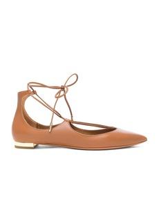 Aquazzura Leather Christy Flats