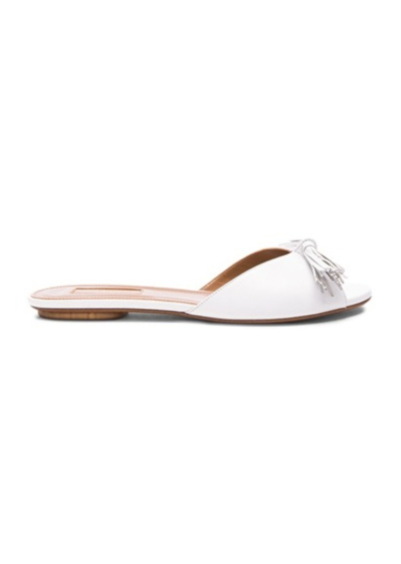 Aquazzura Leather Wild Slide Sandals