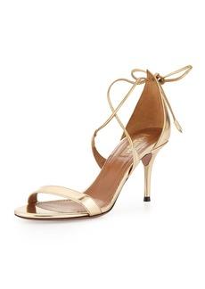 Aquazzura Linda Metallic Leather Sandal