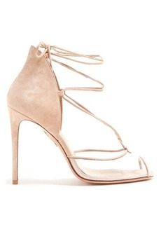 Aquazzura Magic 105 suede sandals