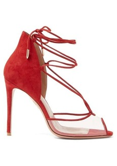 Aquazzura Magic Peep Toe 105 suede sandals