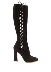 Aquazzura Medina 105 lace-up knee-high boots