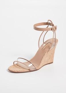 Aquazzura 85mm Minimalist Wedge Sandals