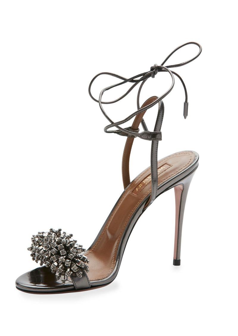 SandalShoes Beaded Aquazzura Aquazzura 105mm 105mm Monaco SandalShoes Monaco Beaded Monaco Beaded Aquazzura 105mm CsrQdth