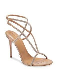 Aquazzura Moondust Crystal Dual Ankle Strap Sandal (Women)