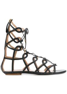 Aquazzura Mumbai Gladiator sandals - Black