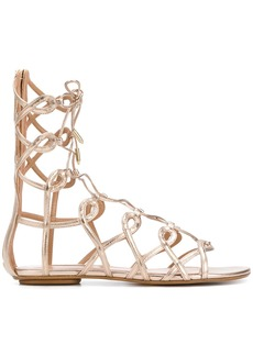 Aquazzura Mumbai Gladiator sandals - Metallic