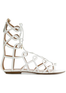 Aquazzura Mumbai gladiator sandals - White