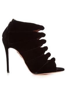 Aquazzura Nasiba knot velvet ankle boots