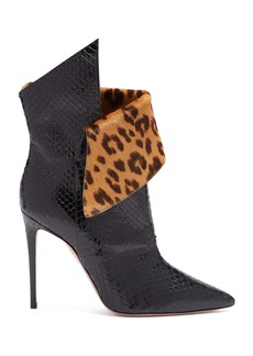 Aquazzura Night Fever 105 watersnake ankle boots