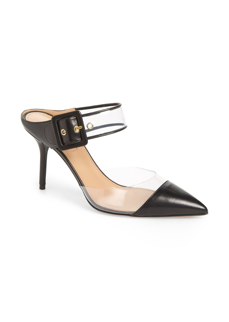 Aquazzura Optic Clear Pointy Toe Mule (Women)