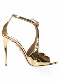 Aquazzura Oscar Gold Metallic Leather Sandals