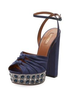 Aquazzura Party Plateau Satin 140mm Sandal