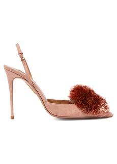 Aquazzura Powder Puff 105 suede pumps