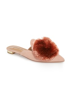 Aquazzura Powder Puff Pointy Toe Mule (Women)