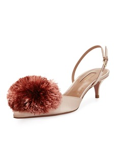 Aquazzura Powder Puff Satin Slingback 45mm Pumps