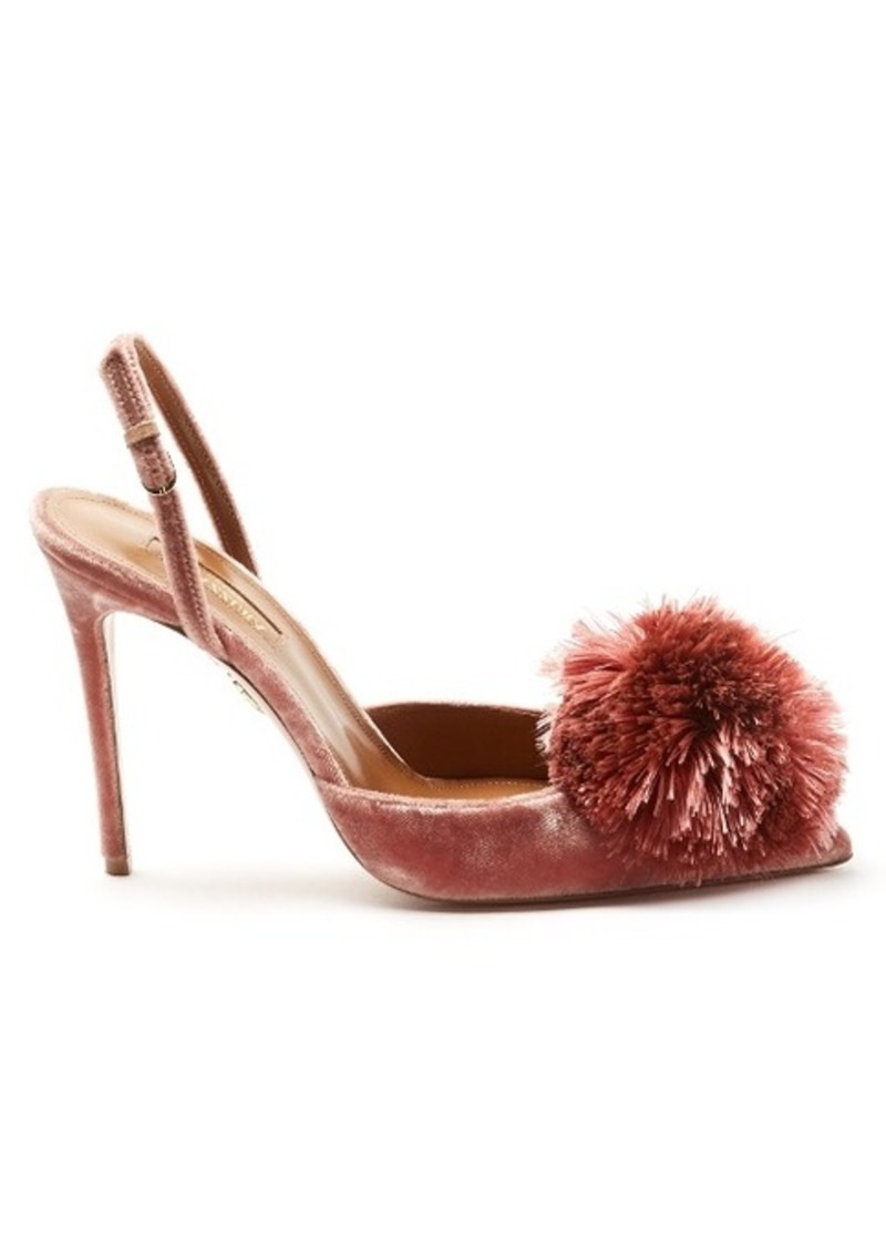 d4e56e8c23 Aquazzura Aquazzura Powder Puff velvet pumps | Shoes