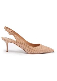 Aquazzura Pure 60 crocodile-effect leather pumps