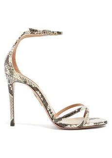 Aquazzura Purist 105 python-effect leather sandals