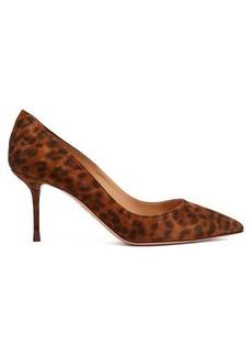 Aquazzura Purist 75 leopard-print suede pumps