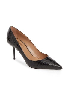 Aquazzura Purist Croc Embossed Pump (Women)