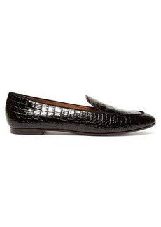 Aquazzura Purist crocodile-effect leather loafers