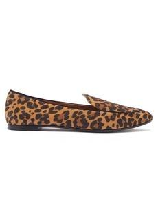 Aquazzura Purist leopard-print suede loafers