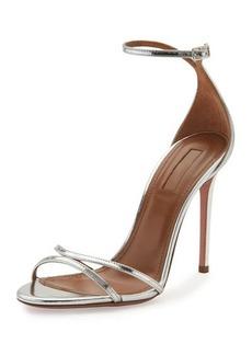 Aquazzura Purist Metallic Specchio Sandal