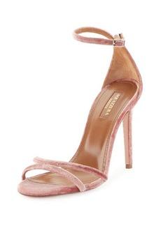 Aquazzura Purist Velvet Sandal