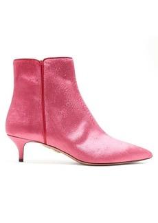 Aquazzura Quant 45 velvet ankle boots