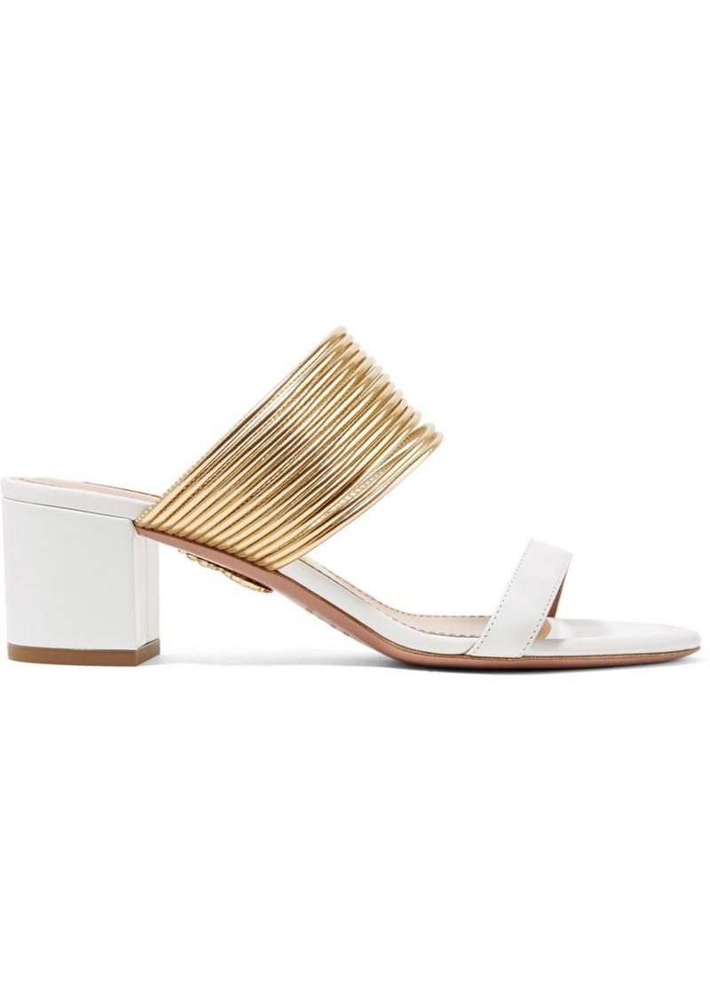 Rendez Vous Leather Sandals Aquazzura tLTT2