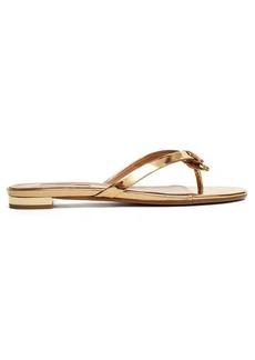 Aquazzura Riva leather sandals