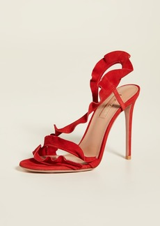 Aquazzura Ruffle 105mm Sandals