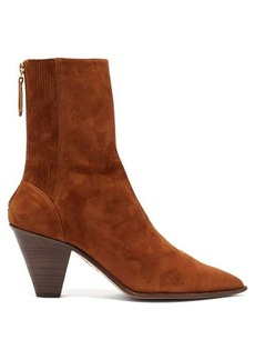 Aquazzura Saint Honore 70 pointed-toe suede boots