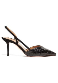 Aquazzura Salome 75 leather slingback pumps
