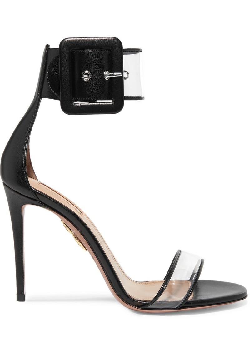 6977ffd47983 Aquazzura Seduction Pvc And Leather Sandals   Shoes