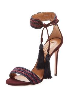 Aquazzura Shanty Ankle-Tie Rope Sandal