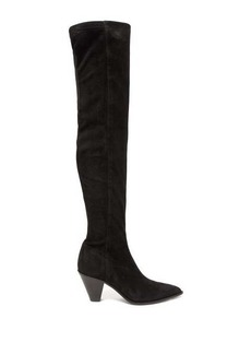 Aquazzura Shoreditch 70 suede over-the-knee boots